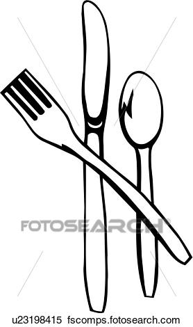 X Clipart Of Food Fork Kitchen Knife Silverware Spoon