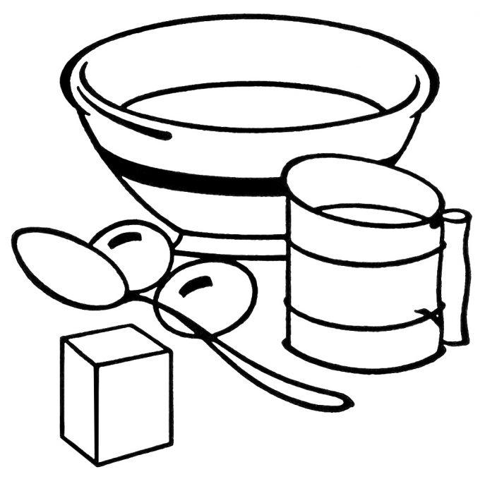 687x679 Kitchen Impressive Kitchen Utensils Clipart Black And White