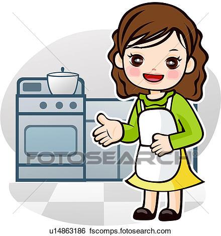 440x470 Stock Illustration Of Apron, Job, Kitchen Utensils, Kitchen