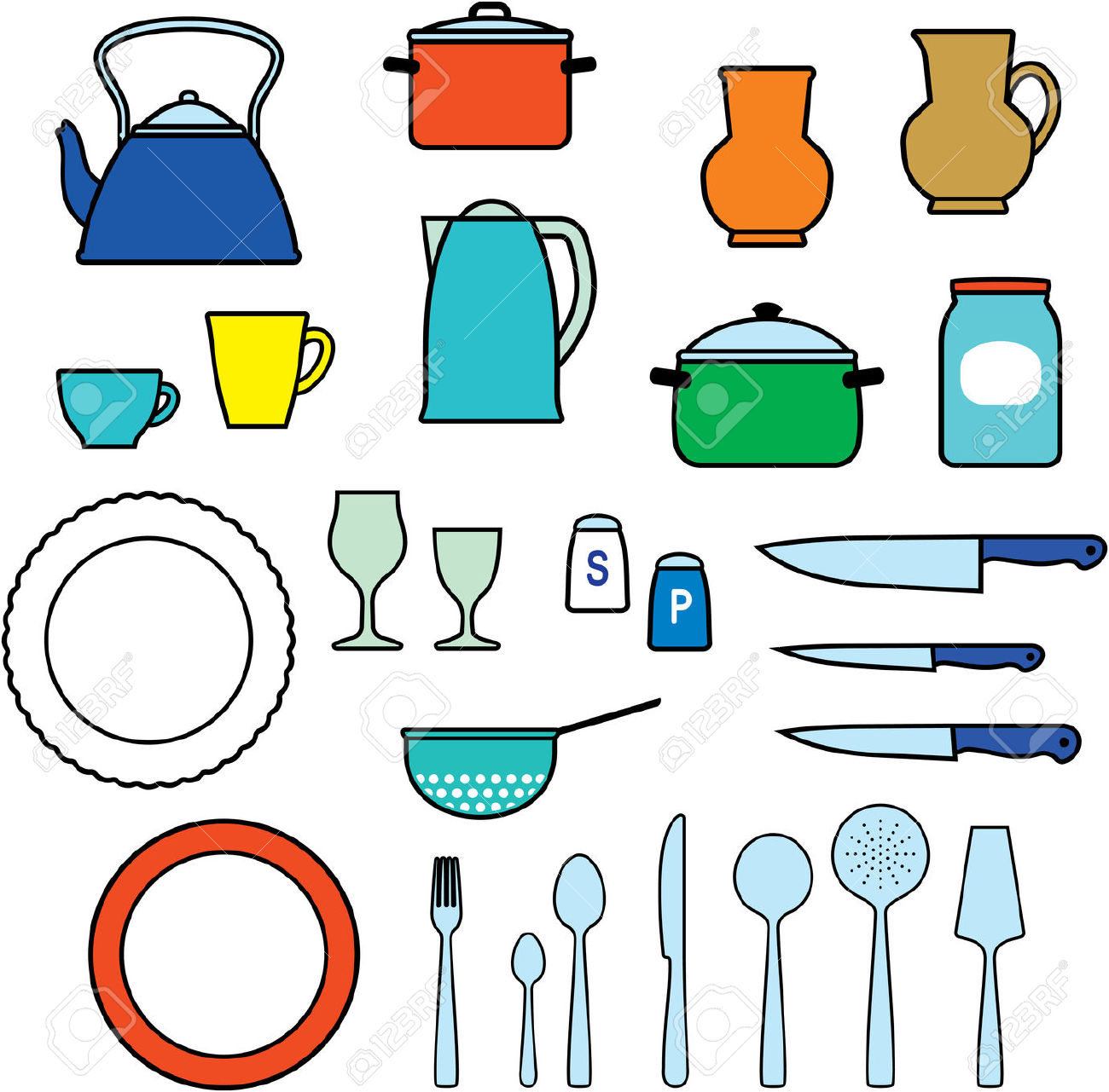 1300x1281 The Kitchen Clipart Kitchen Supply