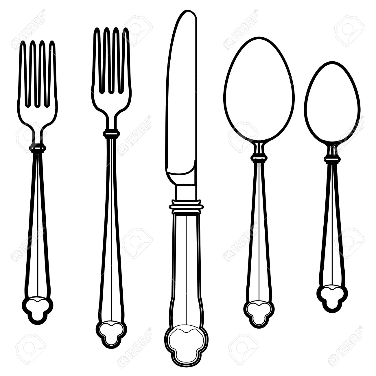 1300x1300 Utensils Kitchen Templates Images On Kitchen Drawings Clip Art