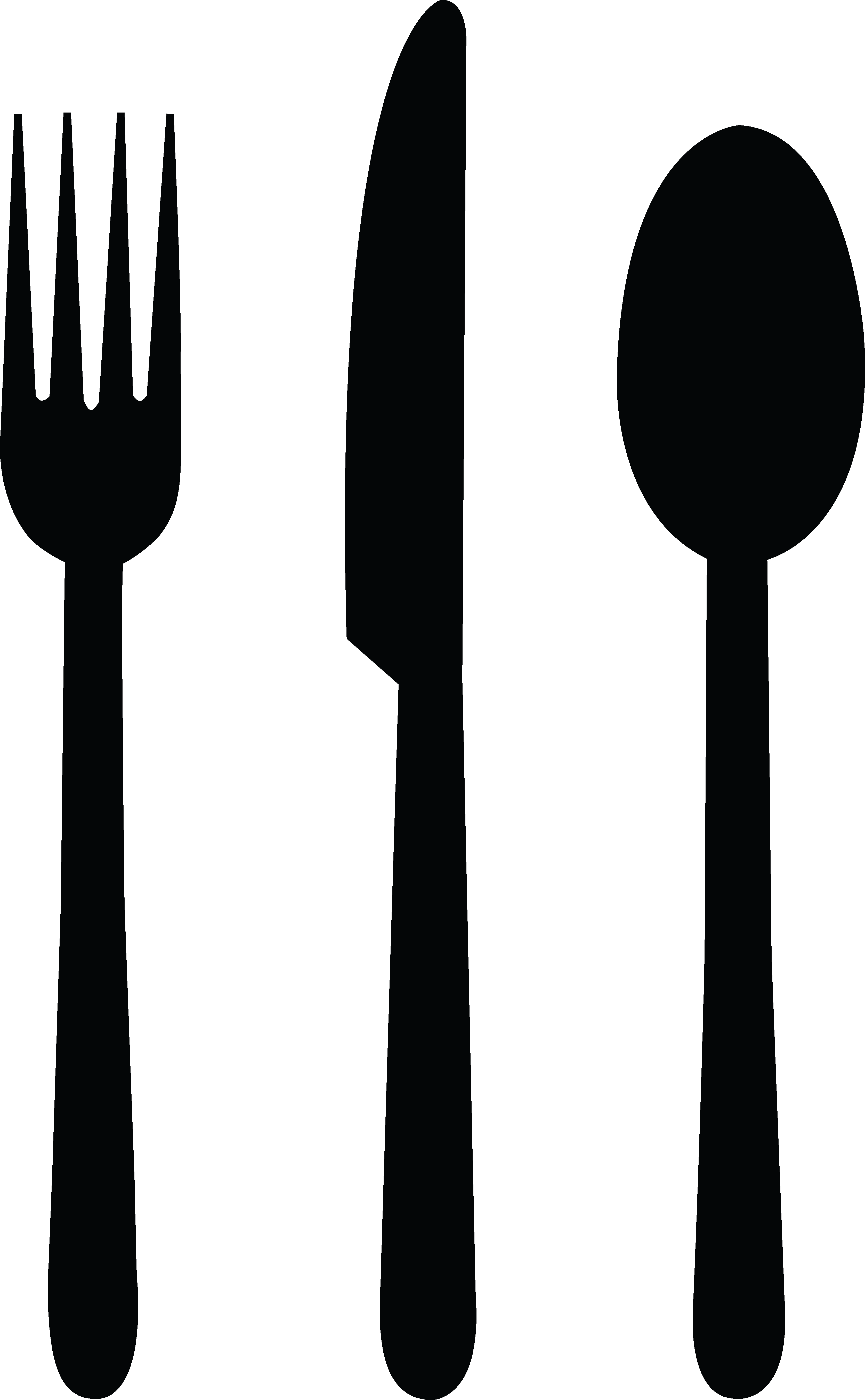 3353x5424 Free Clipart Of Silverware