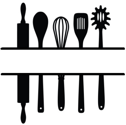 437x435 Fresh Inspiration Kitchen Utensils Silhouette