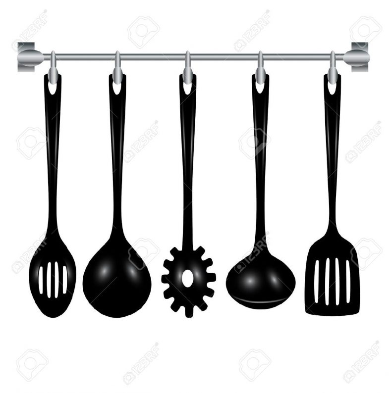 791x794 Kitchen Stunning Kitchen Utensils Clipart Black And White Vector