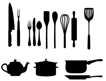 418x321 Kitchen Utensils Silhouette Vector Free 77 Best Logos 2 Images