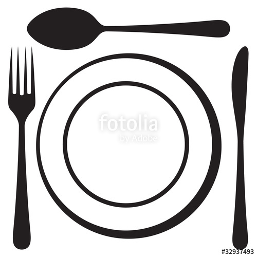500x500 Plate Spoon Clipart, Explore Pictures