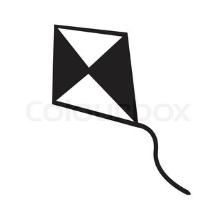 320x320 The Kite Icon. Kite Symbol. Flat Vector Illustration Stock