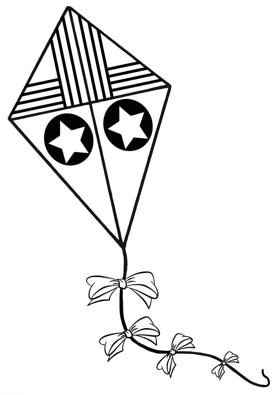945x1370 Download Coloring Pages Kite Coloring Page Simple Kite Coloring