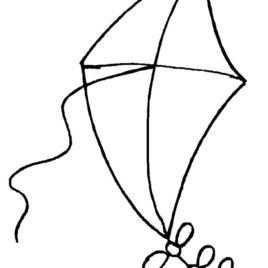 268x268 Kite Coloring Pages Drawing Inspiration Dragon Kite Coloring Page