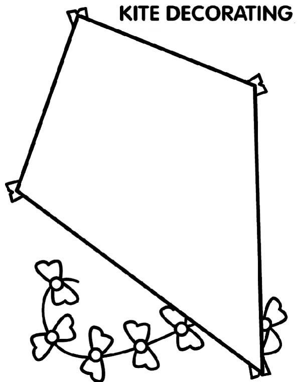 600x761 Kite Coloring Pages Website Picture Gallery Kite Coloring Page