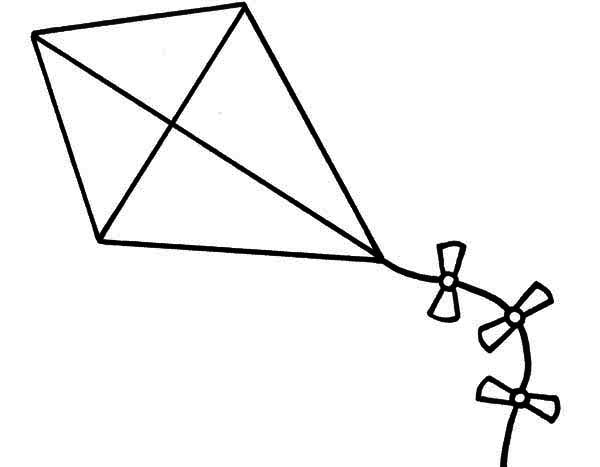 Kite Coloring Pages Free Download Best Kite Coloring Pages