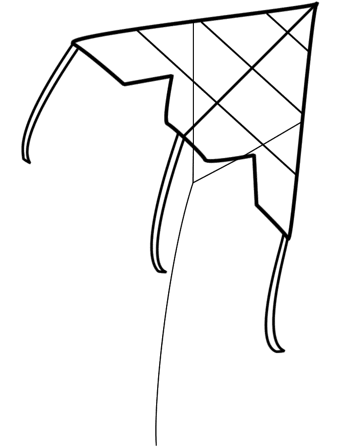 720x900 Kite Coloring Pages Printable