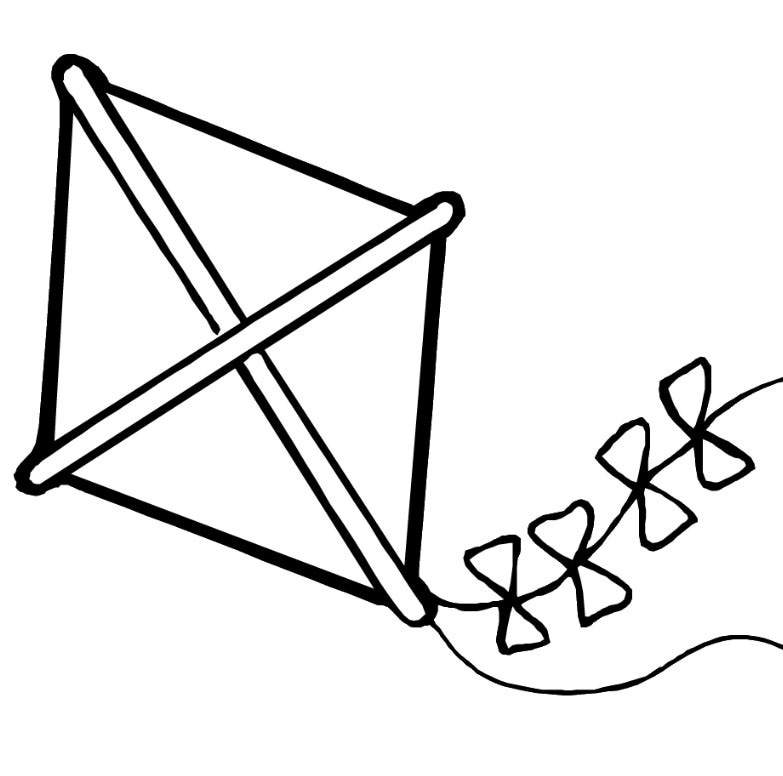 783x776 Best Kite Coloring Page 55 On Seasonal Colouring Pages With Kite