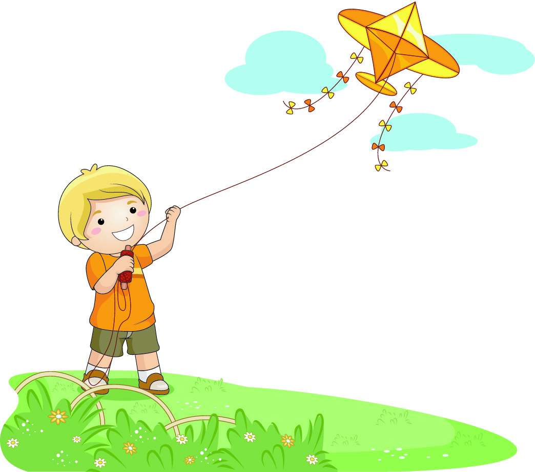 1044x922 Kite Clipart Windy Day