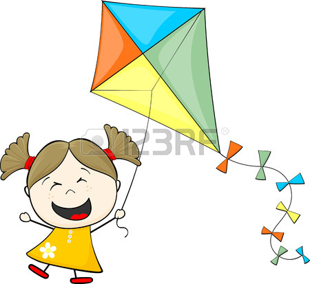 450x413 2,613 Flying Kites Stock Illustrations, Cliparts And Royalty Free