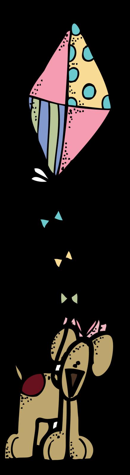 438x1600 Melonheadz Puppy With A Kite
