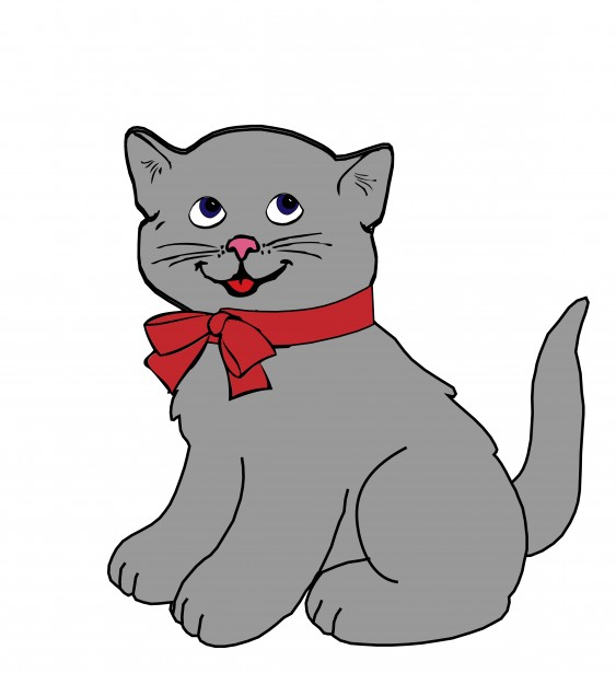 563x615 Free Kitten Clipart Image