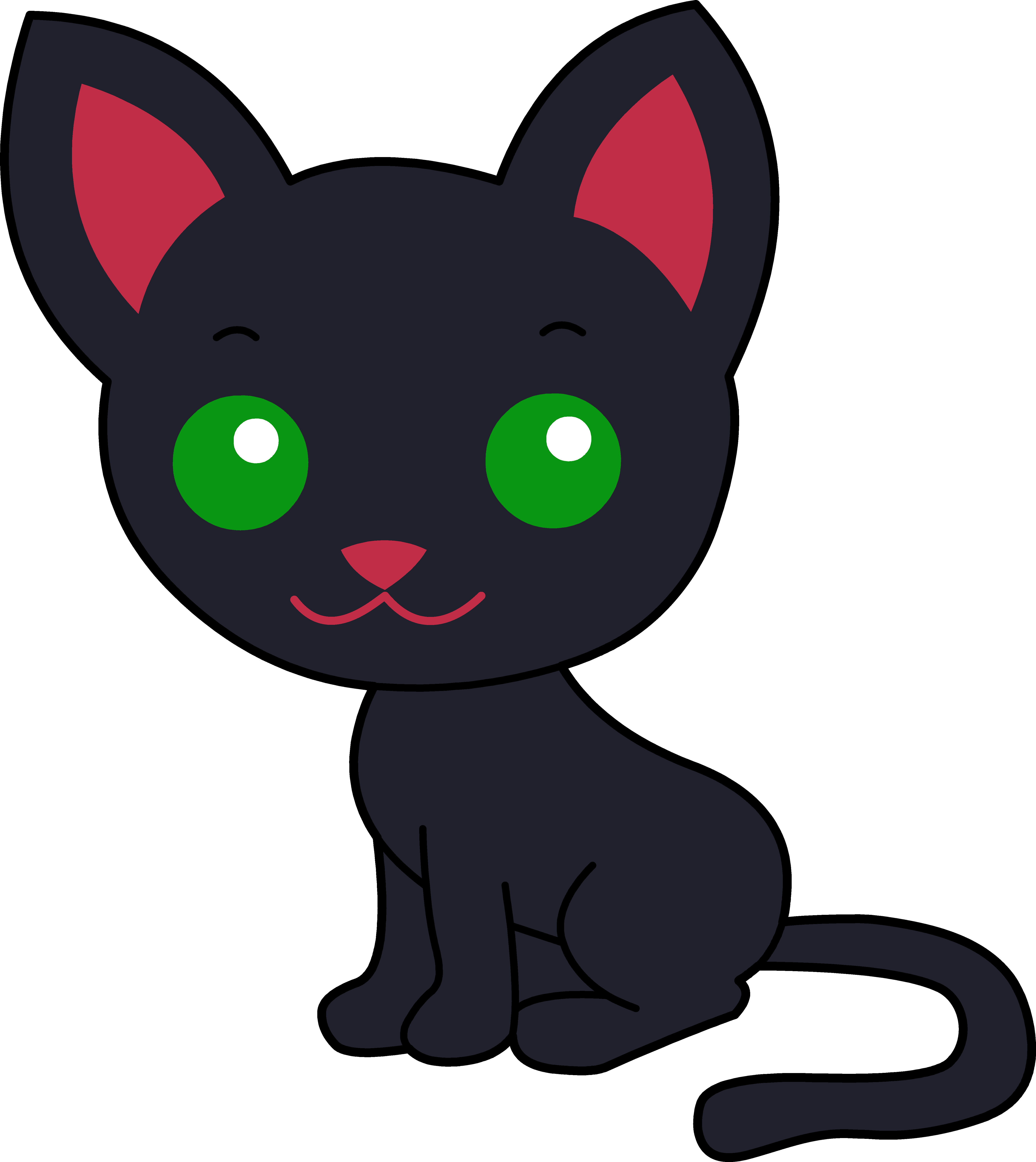 5368x6022 Black Kitten Clipart Free Clipart Images