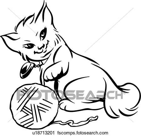 450x434 Clipart Of , Animal, Cartoons, Cat, Feline, Kitten, Kitty, Pet