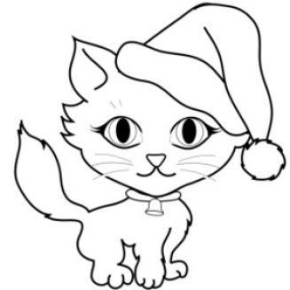 327x327 Kittens Clipart Black And White