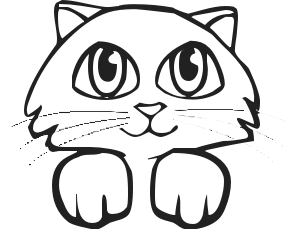 287x229 Kitten Clip Art Black And White Free Clipart Images 5