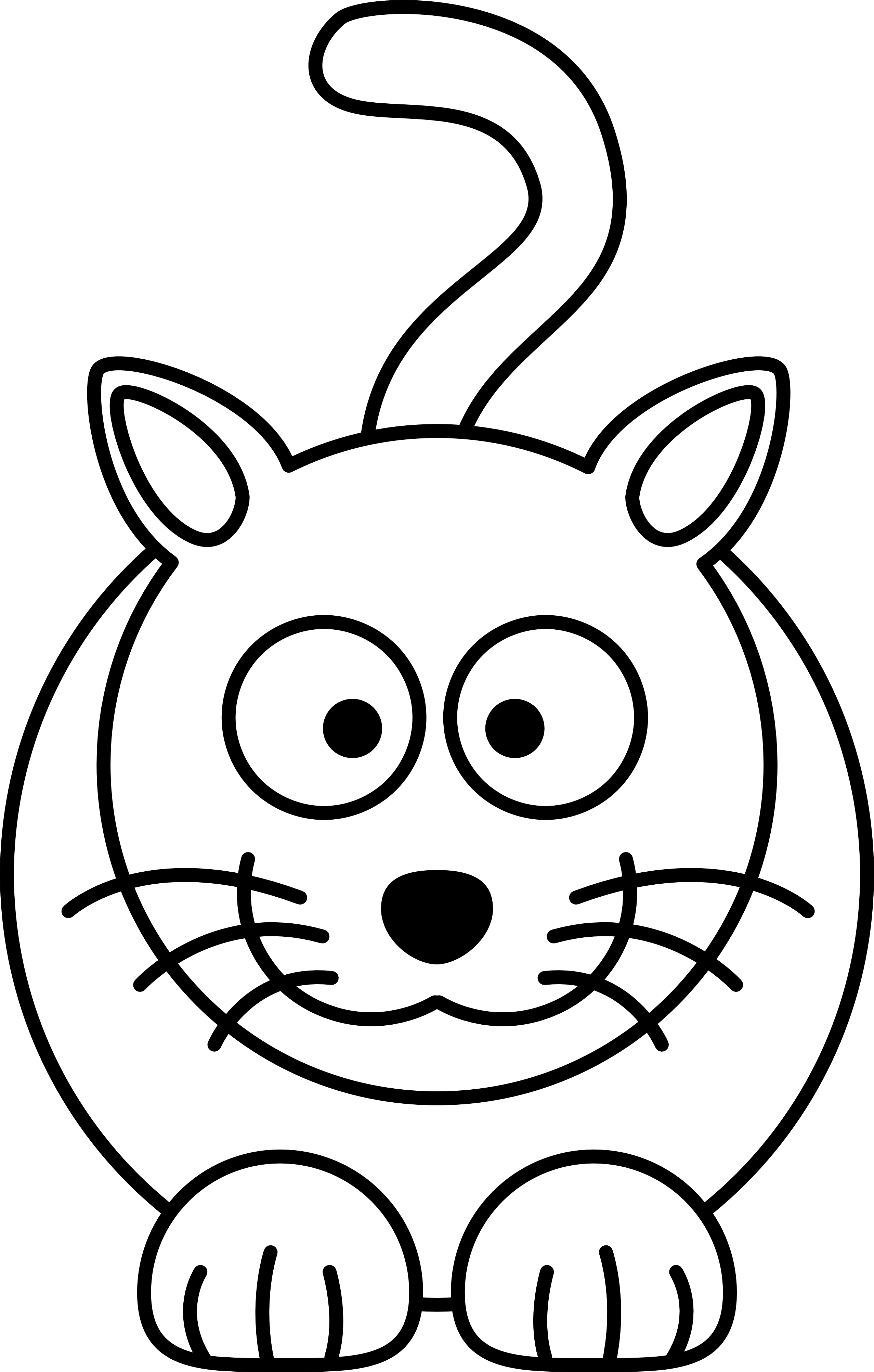 2555x4009 Puppy And Kitten Clipart Black And White Free
