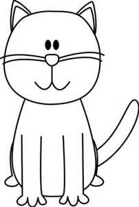 202x300 Simple Cat Clipart