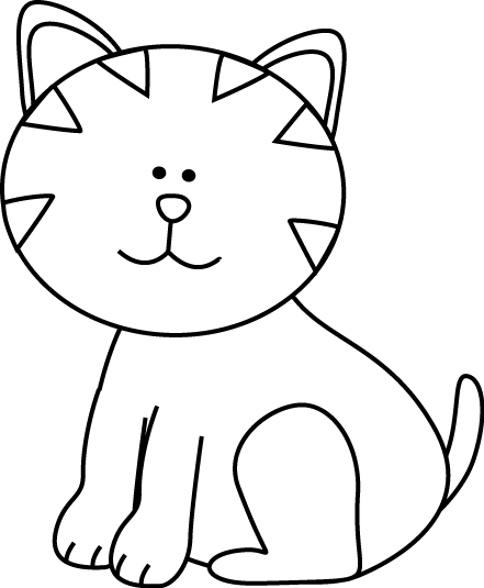 441x535 Clip Art Black And White Kitten Clipart