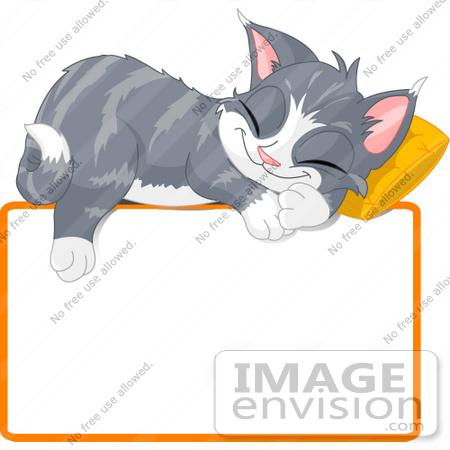 450x450 Cliprt Illustration Ofndorable Gray Kitten Napping On