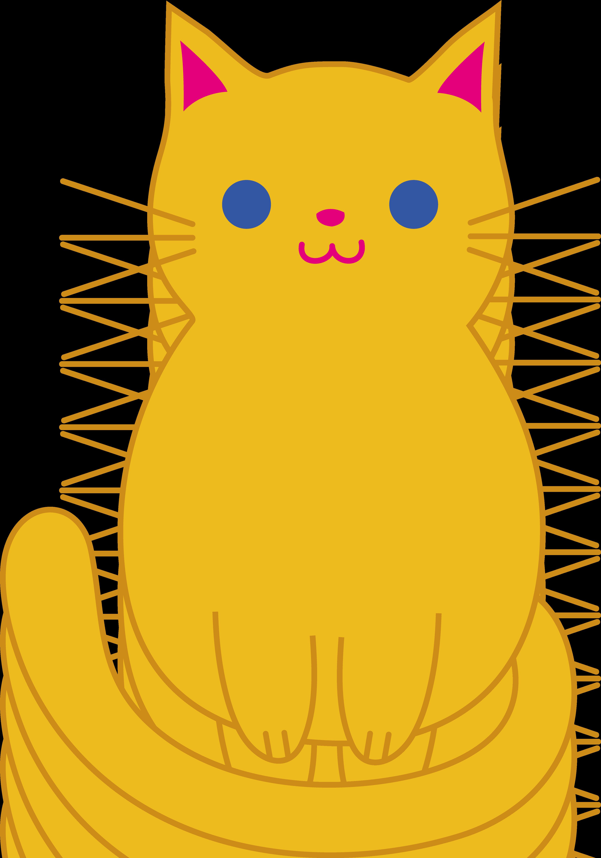 3528x5039 Cute Orange Cat Clip Art