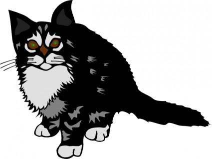425x318 Kitten Black Clip Art Free Vectors Ui Download