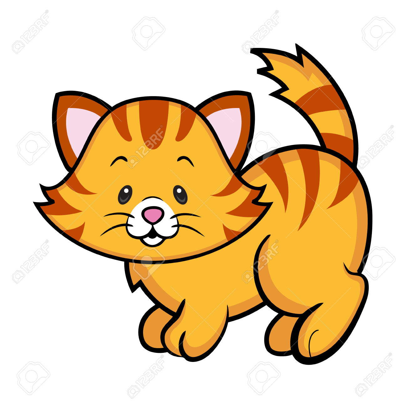 1300x1300 Tabby Cat Clipart Free Kitten
