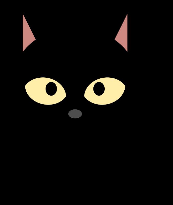 676x800 Black Cat Clip Art