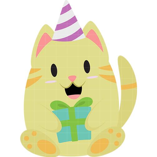 504x504 Kitten Clipart Birthday