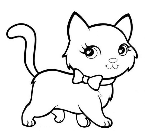 600x542 Coloring Pages Kittens Printable Murderthestout