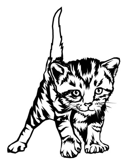 417x540 Cute Kitten Coloring Pages