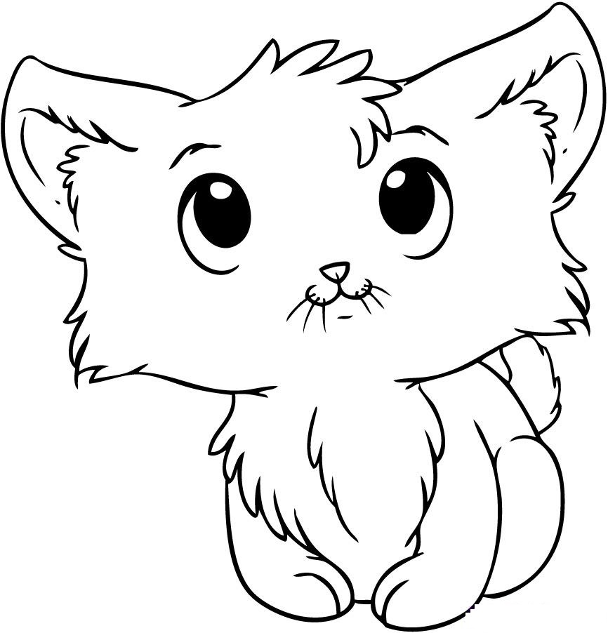 866x902 Cute Kitten Coloring Pages