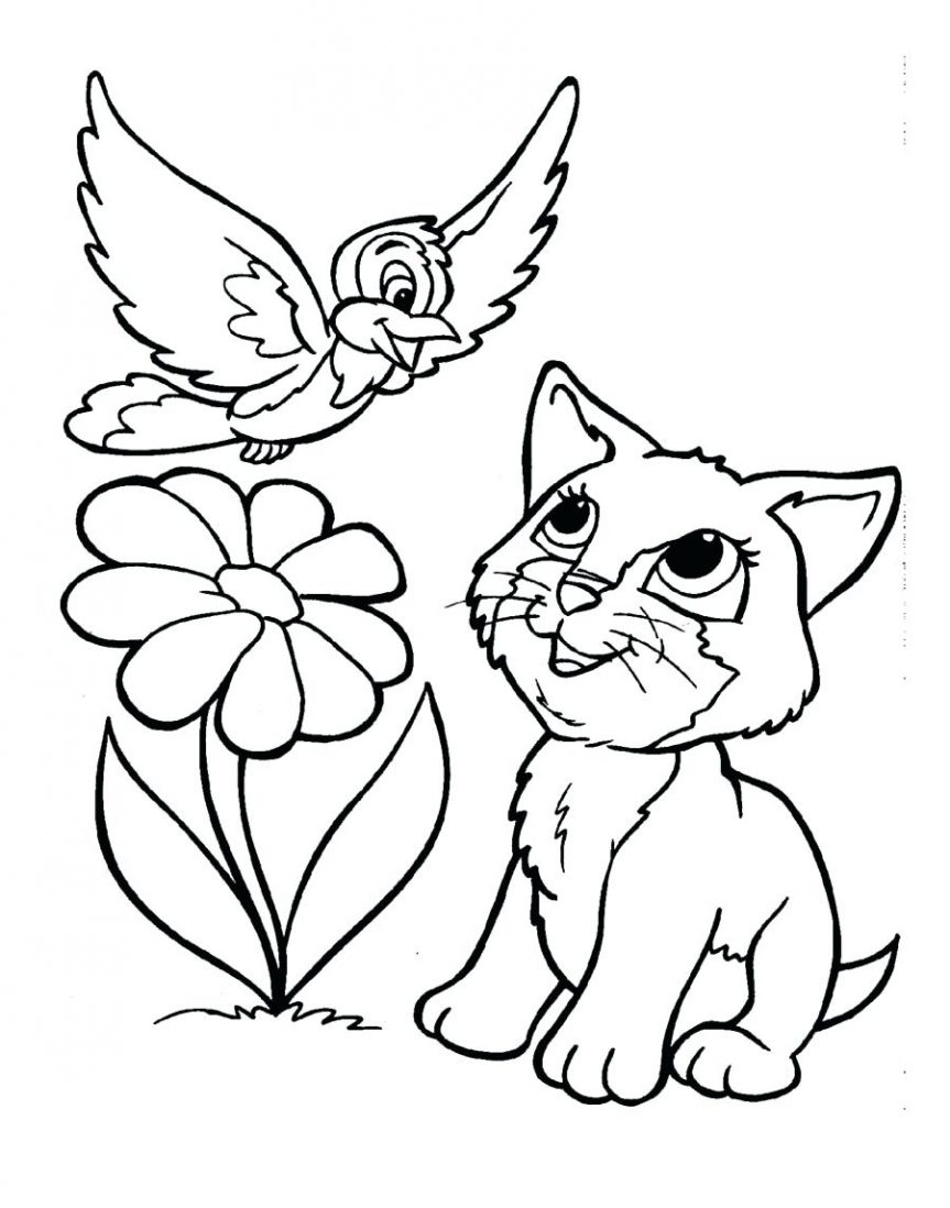 863x1098 Download Coloring Pages Kittens Cute Sheets Realistic Kitten