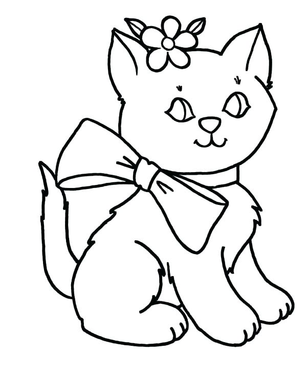 600x734 Free Puppy And Kitten Coloring Pages Of Sonic Kitty Cat Color