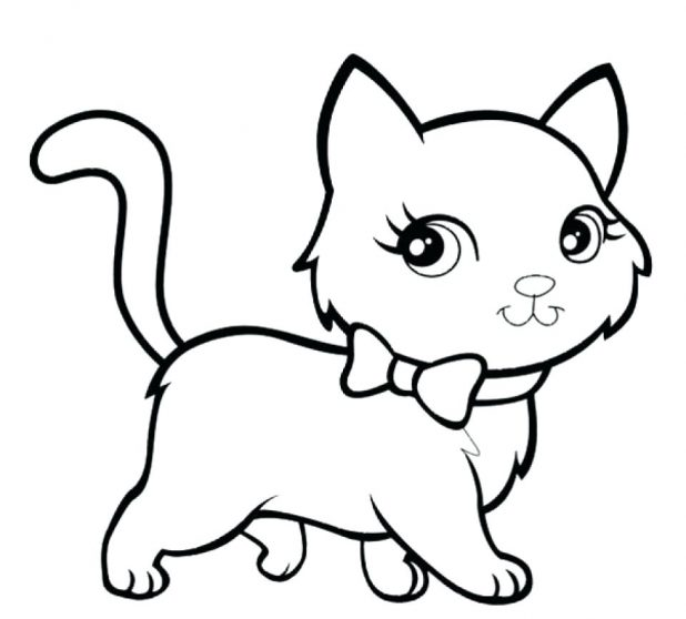 618x558 Fresh Kitten Coloring Pages Printable For Adults With 153