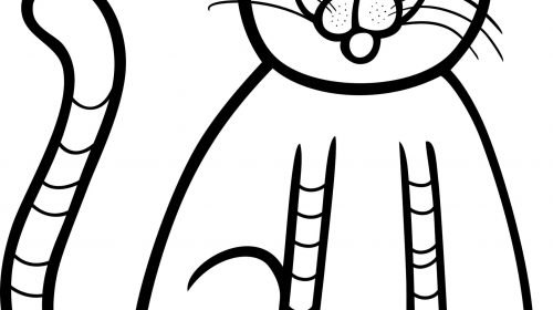 500x280 Kitten Coloring Pages Beautiful Cute Kitten Coloring Page