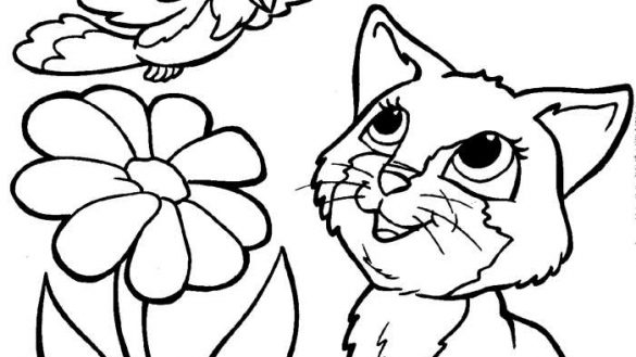 585x329 Kitten Pictures To Color Coloring Page We Are All Magical Baby