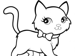 320x240 Perfect Kitten Coloring Page 50 For Your Coloring Print