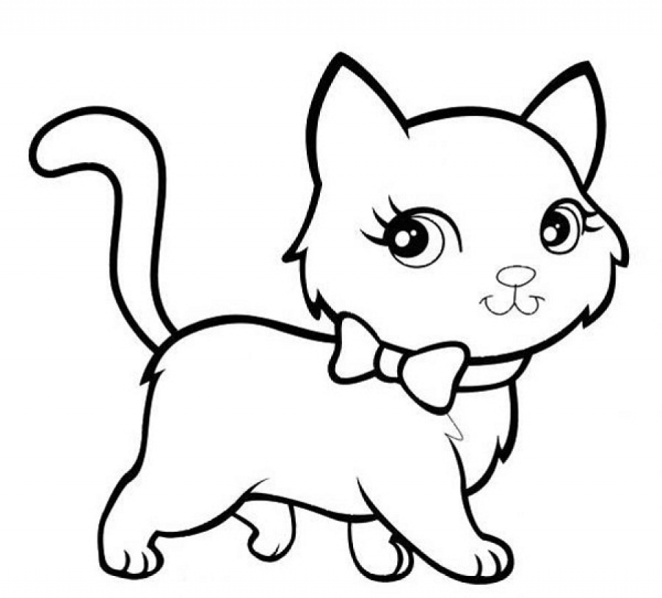 960x867 Printable Coloring Pages Kitten Color Pages