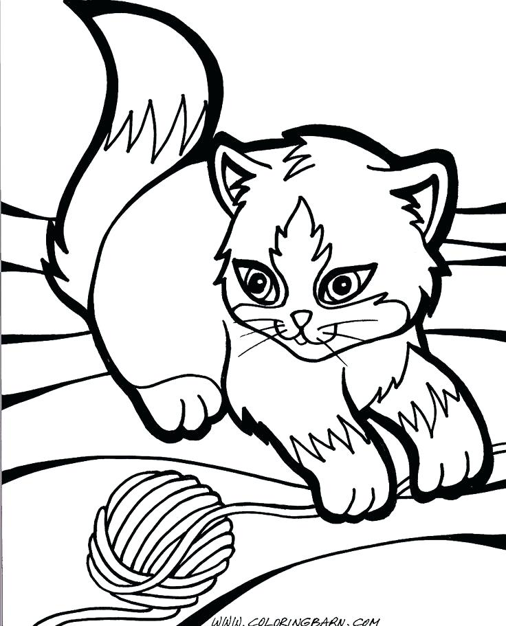 736x911 Printable Cute Baby Kitten Coloring Pages Get This