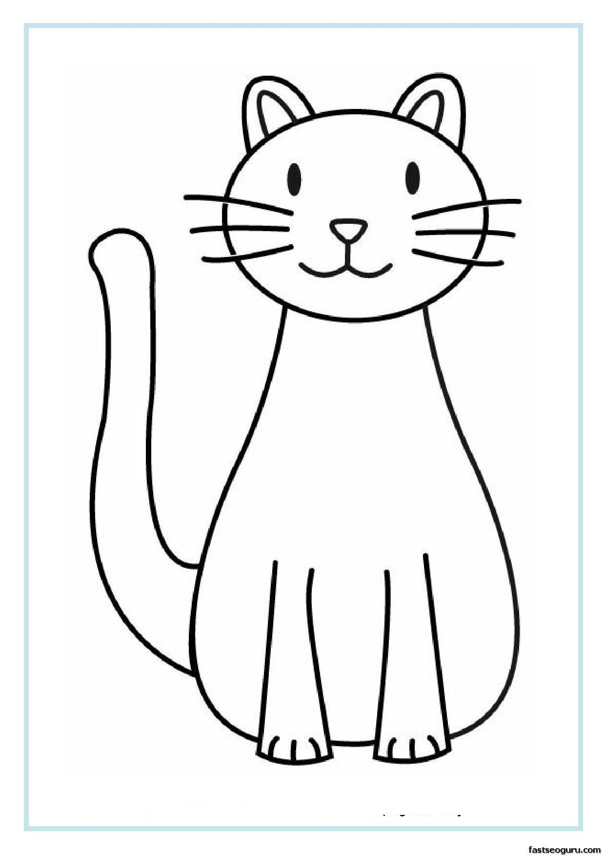 1240x1754 Simple Kitten Coloring Page Simple Colorings