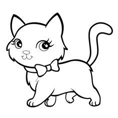 235x235 Cat Color Page, Animal Coloring Pages, Color Plate, Coloring Sheet