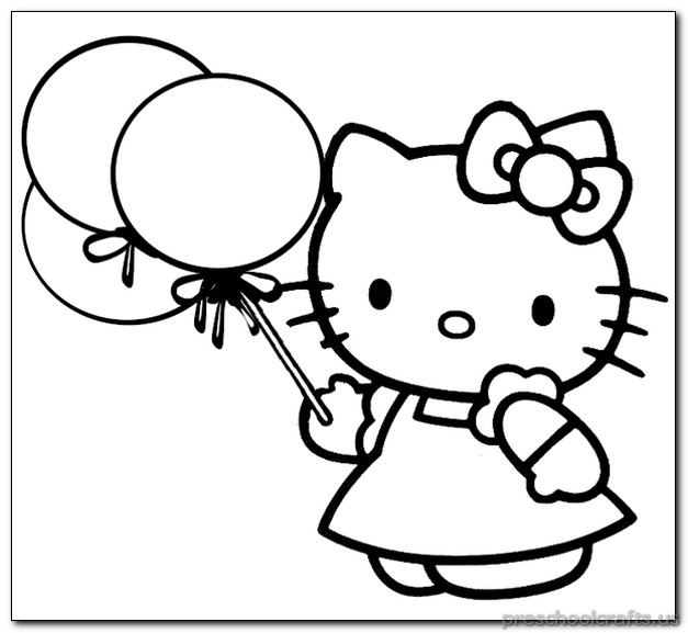 627x577 Kitten Coloring Pages For Kids