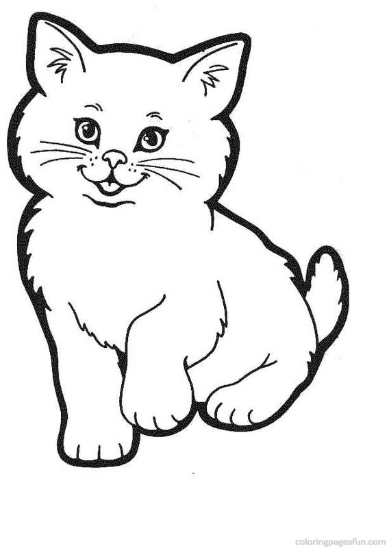 568x800 Best Cute Kitten Coloring Pages Free 3125 Printable