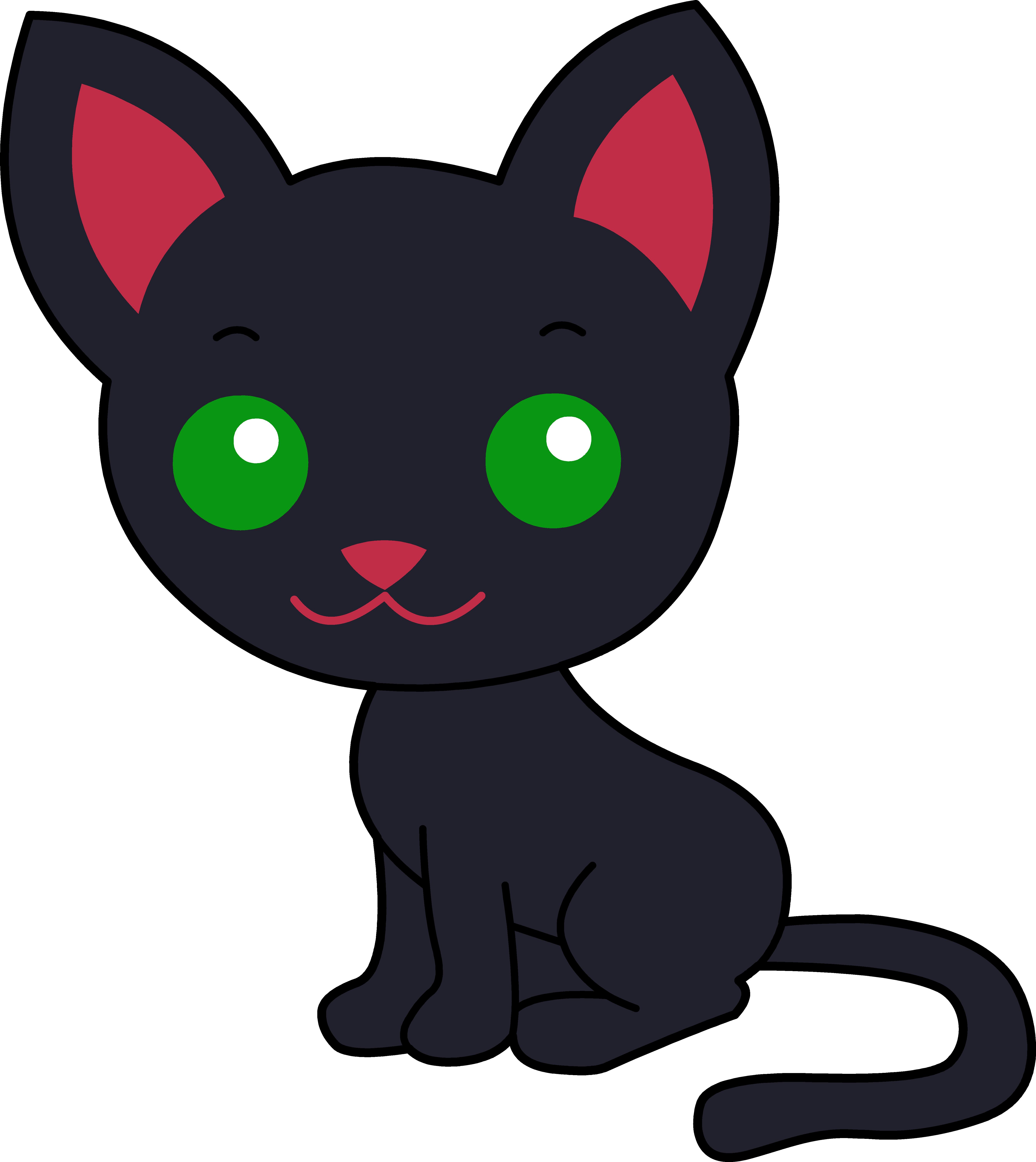 5368x6022 Cute Black Kitty Cat